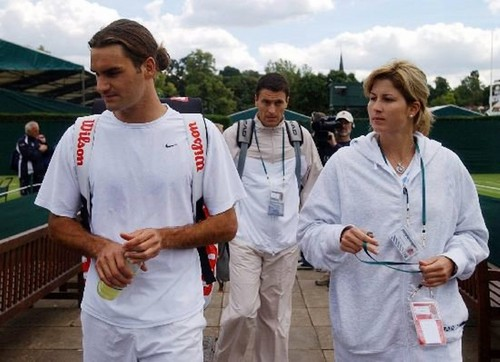 Young Roger and Mirka - roger-federer Photo