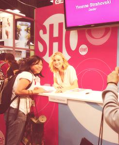 Yvonne Strahovski at Comic Con 2012