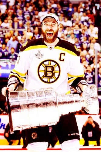 Zdeno Chara and the Stanley Cup - 2011