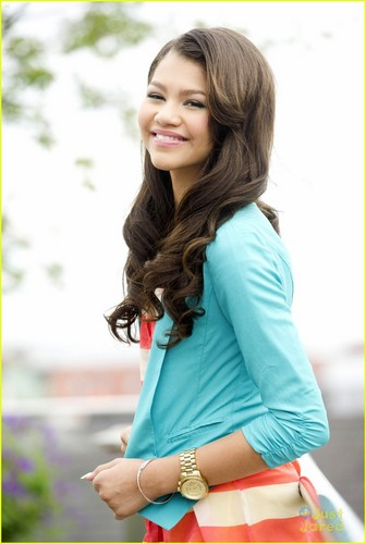 Zendaya Coleman wallpaper with bare legs, a hip boot, and a playsuit entitled Zendaya Photoshoot