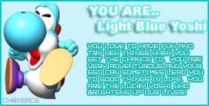 Baby blue Yoshi paglalarawan