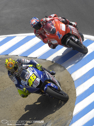 battle with Casey Stoner