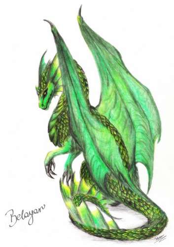 ドラゴン 壁紙 titled beautiful green dragon