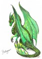 beautiful green dragon - dragons photo