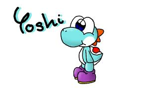 Yoshi wallpaper called Light blue Yoshi