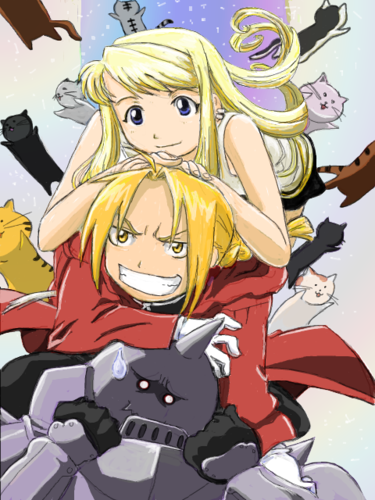 full metal alchemist wallpaper containing anime titled ed al &winry