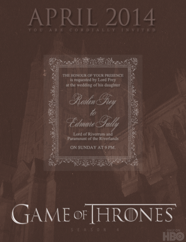 Game of Thrones- Red Wedding- Poster
