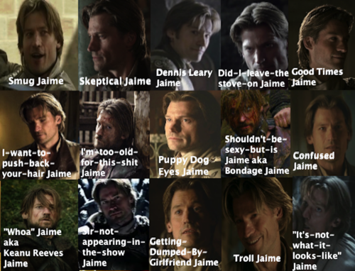 The Many Faces of Jaime Lannister