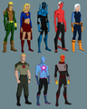 guardianwolf216: Designs of characters she wants on the tampil + Blue Beetle