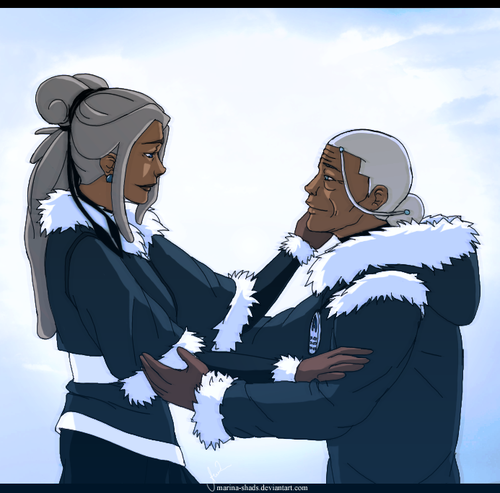 Avatar, La Légende de Korra fond d'écran entitled katara and kya