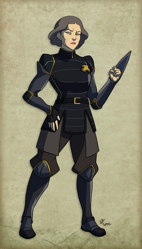 Avatar: The Legend of Korra wallpaper probably containing a tabard and a surcoat entitled lin biefong
