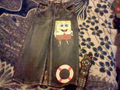my nephews blue jeans! That I made:)