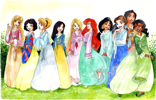 princesses in hanboks