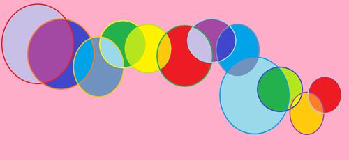 무지개, 레인 보우 bubbles
