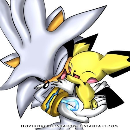 Silver the Hedgehog wallpaper probably containing anime entitled silver and pichu cute!!!