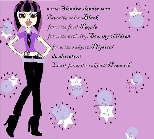 Monster High fond d'écran possibly with a sign called slendra slender man
