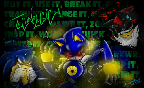 sonic and metal sonic and shadow