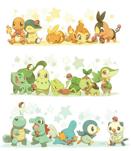 starter pokemon - pokemon Photo