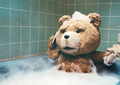 ted bathing