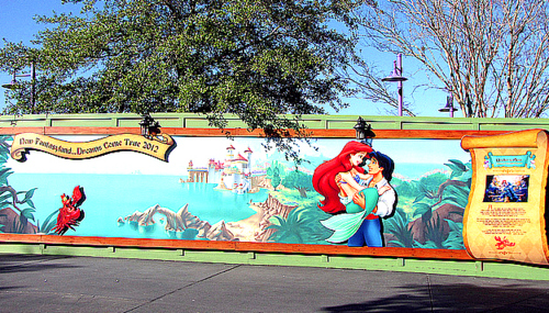 Walt Disney World wallpaper with a diner, a street, and a carriageway titled walt disney world