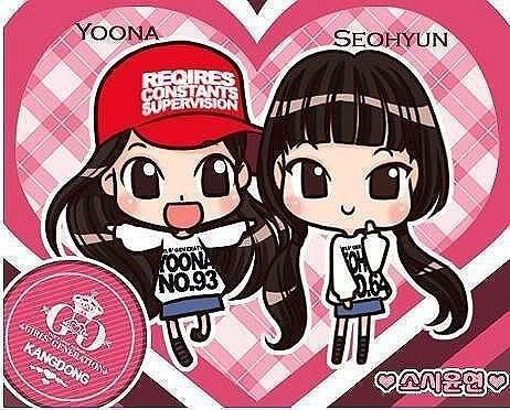 Yoona and Seohyun chibi