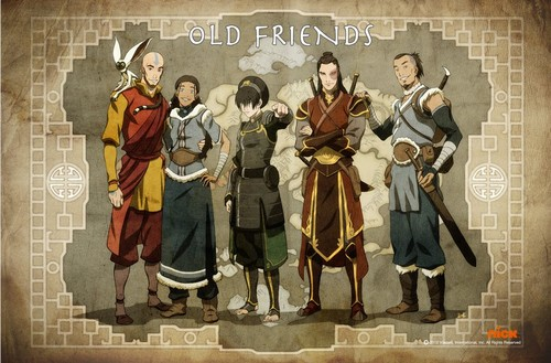 "Avatar: The Legend of Korra wallpaper possibly containing a surcoat entitled ""Old Friends"""