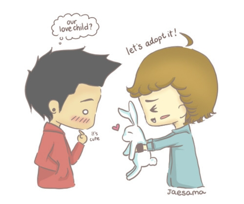 One Direction fond d'écran containing animé titled ♥One Direction Cute Drawings♥
