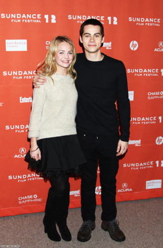 "Dylan O'Brien fond d'écran containing a well dressed person and a hip boot entitled ""The First Time"" Premiere 2012 Sundance Film"