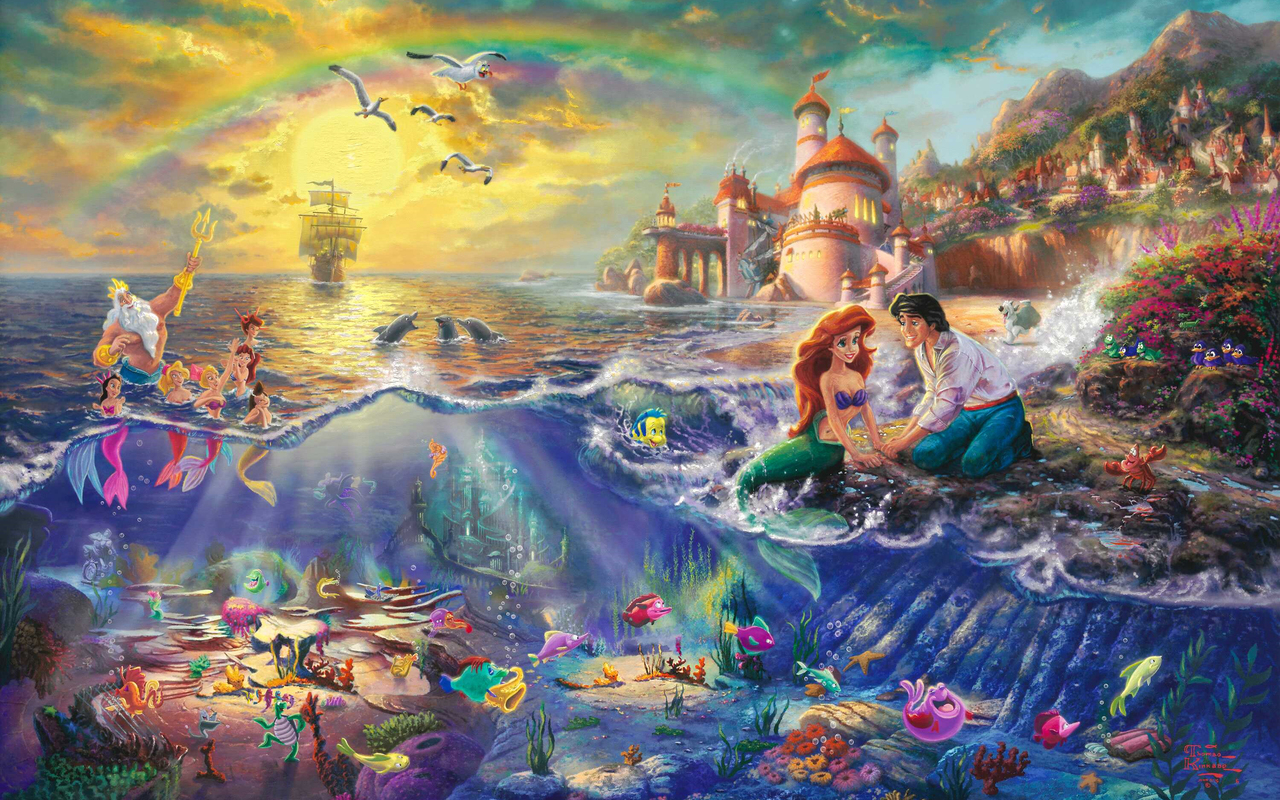 "Disney Princess Thomas Kinkade ""Disney Dreams"""