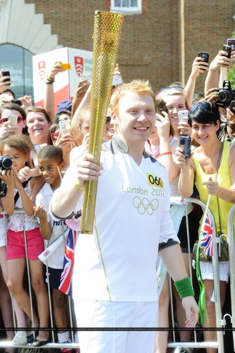 2012 Olympic Torch Relay in london - July,25