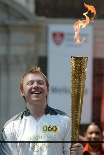 2012 Olympic Torch Relay in London - July,25 - rupert-grint Photo