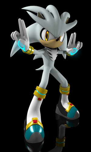 3D Silver The Hedgehog