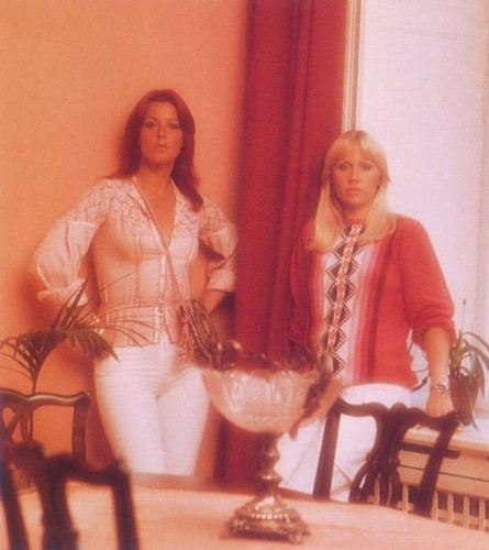 ABBA wallpaper possibly with a dinner table and a dining room entitled ABBA