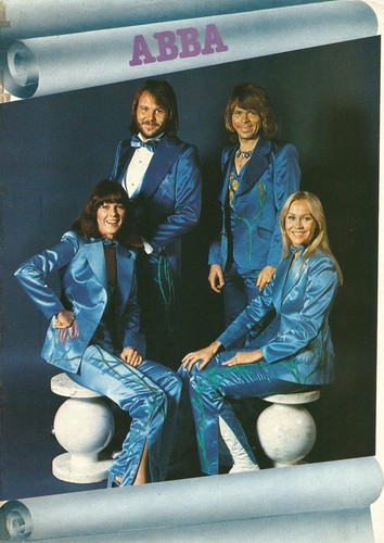 ABBA wallpaper probably containing a well dressed person, long trousers, and a business suit entitled ABBA