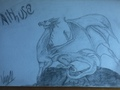 Aithusa Scetch - merlin-on-bbc fan art
