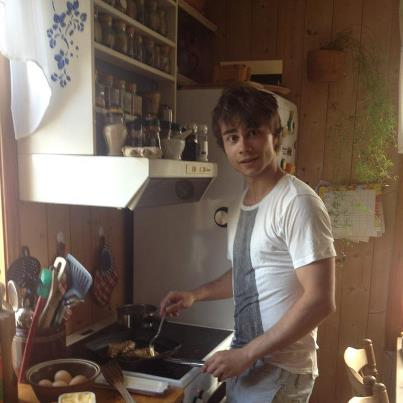 Alexander Rybak wallpaper probably with a spatula, a turntable, and a barbecue entitled Alex making dinner :)