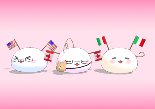 America, Canada, and Italy