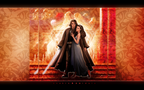 Anakin and Padme 壁纸 titled Anakin & Padme