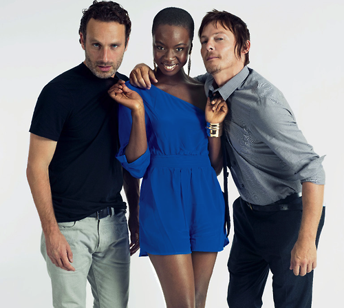 The Walking Dead wallpaper possibly with a well dressed person entitled Andrew Lincoln,Danai Gurira,Norman Reedus