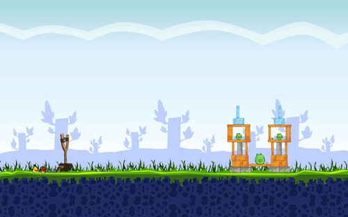 Angry Birds wallpaper possibly with a sign titled Angry Birds Gameplay