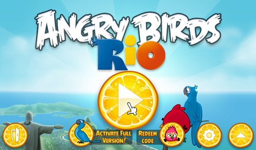 angry birds wallpaper possibly with anime titled Angry Birds Rio