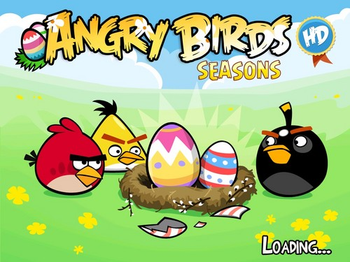 Angru Birds wallpaper titled Angry Birds Seasons HD