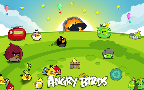 Angry Birds wallpaper containing anime entitled Angry Birds Wallpaper