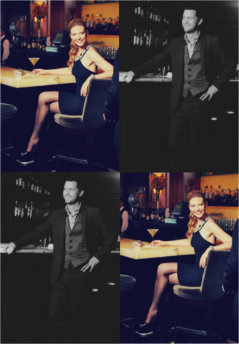 Anna Torv and Joshua Jackson wallpaper containing a boardroom and a concerto entitled Anna & Josh ♥
