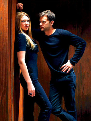 Anna Torv and Joshua Jackson achtergrond probably with a well dressed person, a hip boot, and a pantleg titled Anna & Josh ♥
