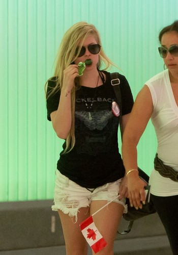 Arriving at LAX Airport, LA (22 July 2012)