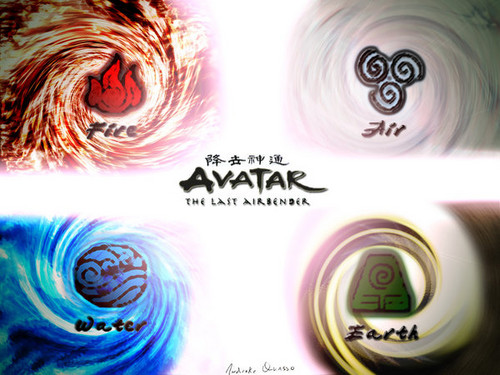 Avatar le dernier maître de l'air fond d'écran probably with a compact disk and an embryonic cell titled Avatar:the last airbender