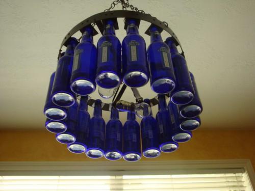 bia Bottle Chandelier