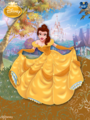 Belle original dress color. - disney-princess fan art