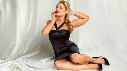 beth phoenix wallpaper probably containing a leotard, a cocktail dress, and a bustier called Beth Phoenix Photoshoot Flashback